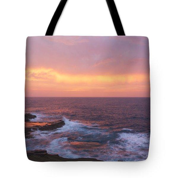 Pink Oahu Sunrise - Hawaii Tote Bag by Brian Harig