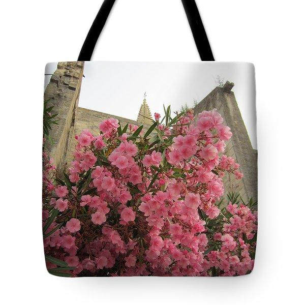 Pink Oleander Tote Bag by Pema Hou