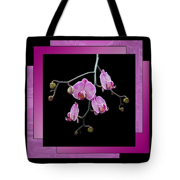 Tote Bag featuring the photograph Framed Orchid Spray by Patti Deters