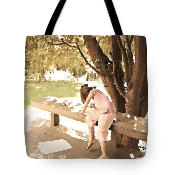 Tote Bag featuring the photograph Pink Painter by Brooke T Ryan
