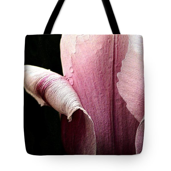 Tote Bag featuring the photograph Pink Pearl Petals by Nadalyn Larsen