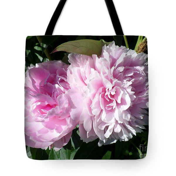 Pink Peonies 3 Tote Bag by HEVi FineArt
