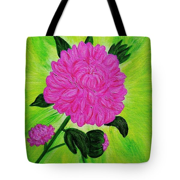 Pink Peony Tote Bag by Celeste Manning
