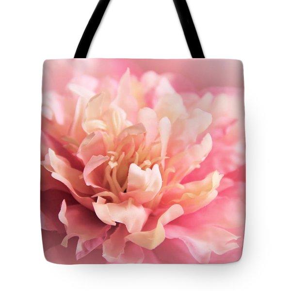 Pink Peony Tote Bag by Elizabeth Budd