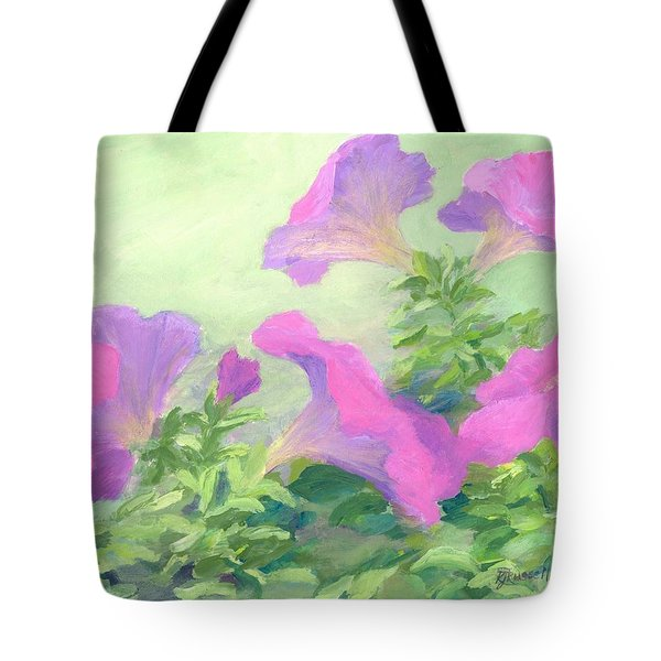 Pink Petunias Beautiful Flowers Art Colorful Original Garden Floral Flower Artist K. Joann Russell  Tote Bag