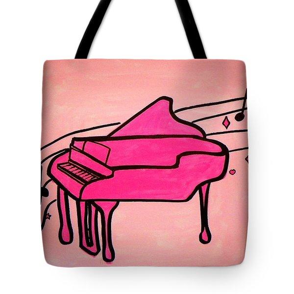 Pink Piano Tote Bag