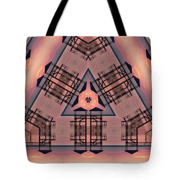 Pink Pier Kaleidoscope One Tote Bag