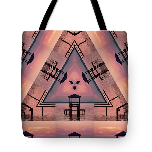 Pink Pier Kaleidoscope Two  Tote Bag