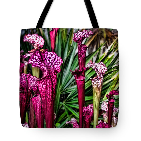 Pink Pitcher Plants Tote Bag by Colleen Kammerer