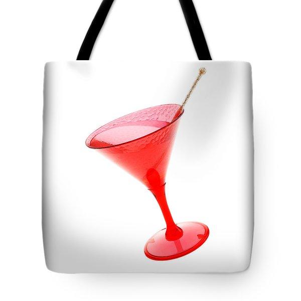 Pink Plastic Cocktail  Tote Bag