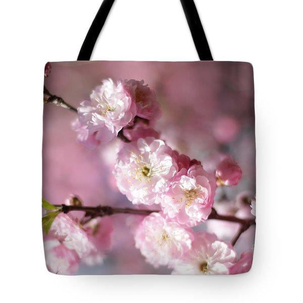 Pink Plum Branch 1 Tote Bag