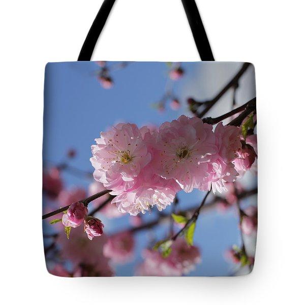 Pink Plum On Sky 2 Tote Bag