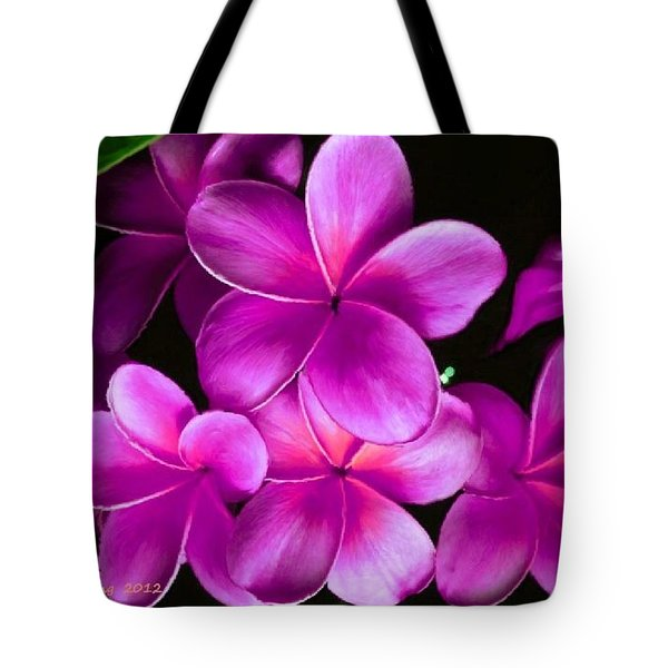 Pink Plumeria Tote Bag by Bruce Nutting