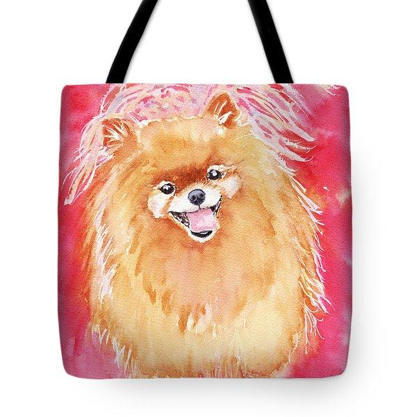 Pink Pom Tote Bag