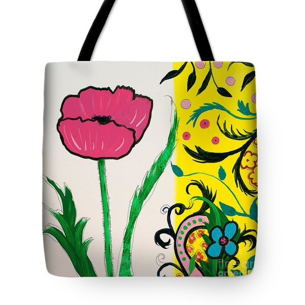 Pink Poppy And Designs Tote Bag