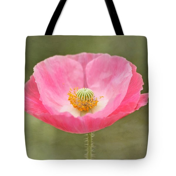 Pink Poppy Flower Tote Bag by Kim Hojnacki