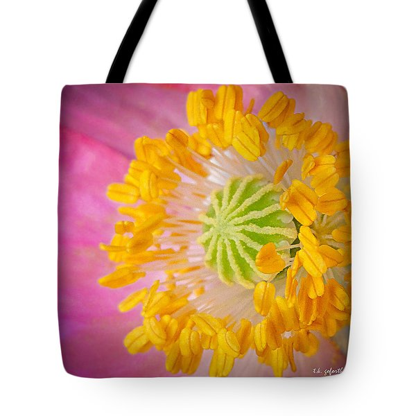 Pink Poppy Too Squared Tote Bag