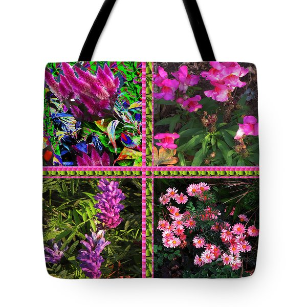 Pink Purple Flowers Captured At The Riverside Ridge At Oakville Ontario Canada Collage Beautiful     Tote Bag