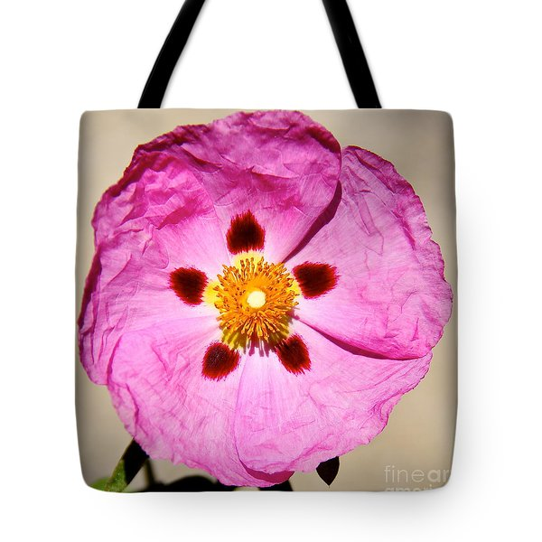 Pink Rock Rose Tote Bag by Suzanne Oesterling