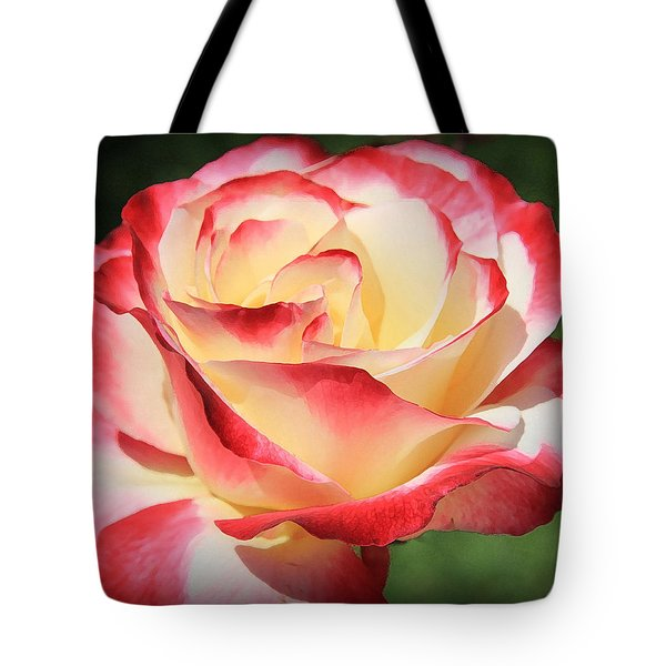 Tote Bag featuring the photograph Pink Rose by Athala Carole Bruckner