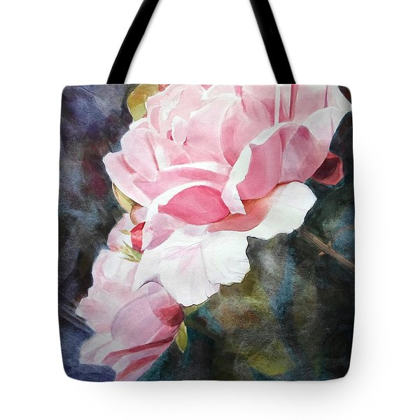 Pink Rose Caroline Tote Bag