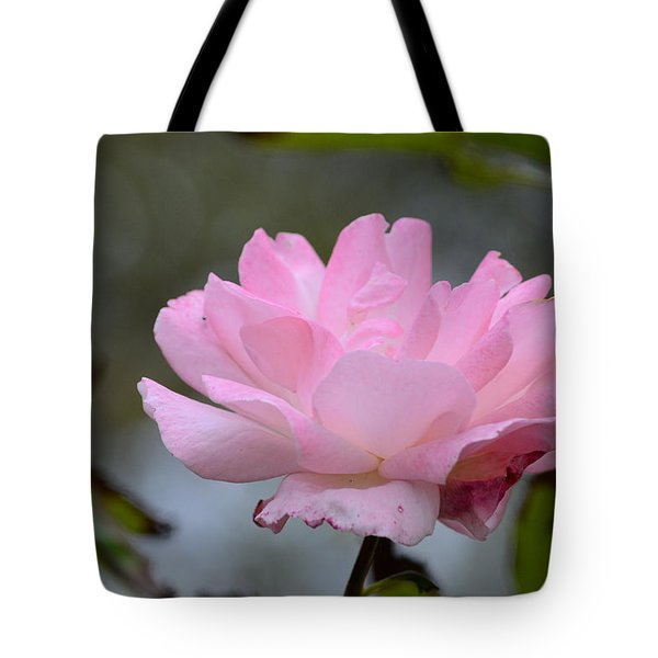 Tote Bag featuring the photograph The Last Rose by Debra Martz