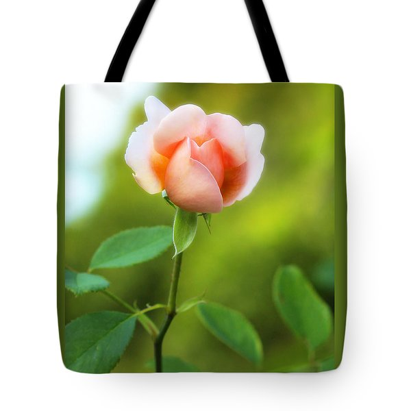 Tote Bag featuring the photograph Pink Rose by Jim Poulos