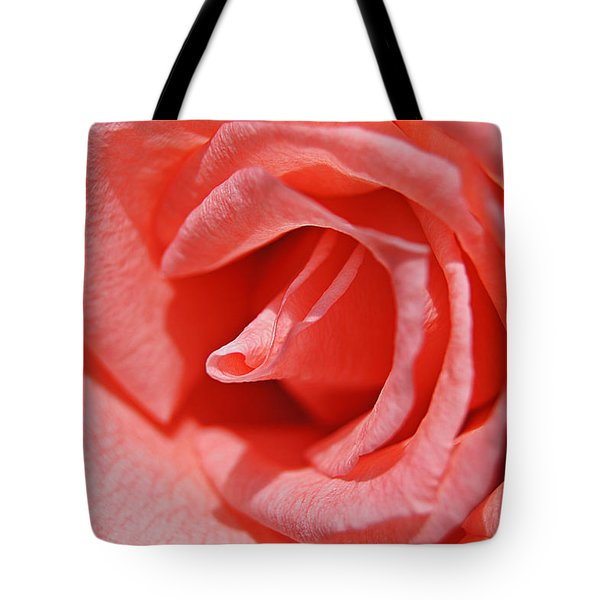 Pink Rose Tote Bag by Kathy Churchman