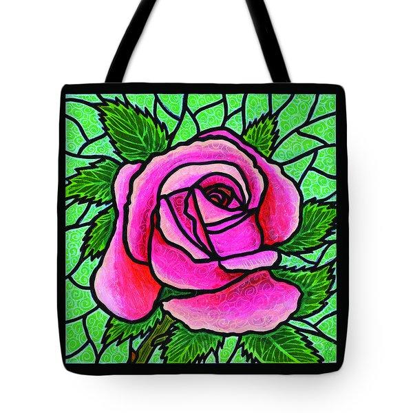 Pink Rose Number 5 Tote Bag by Jim Harris