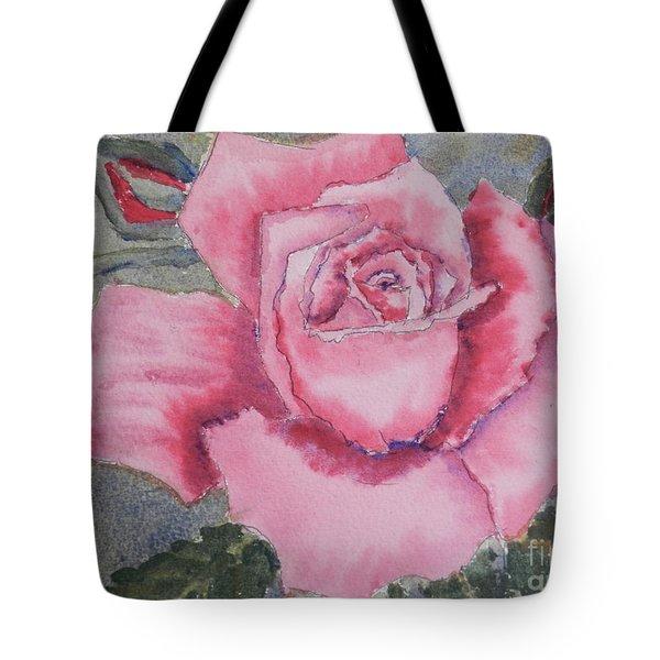 Pink Rose Tote Bag by Pamela  Meredith