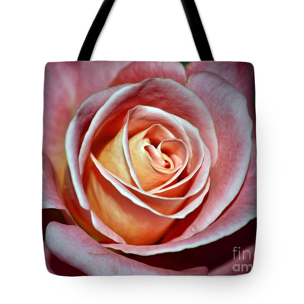Tote Bag featuring the photograph Pink Rose by Savannah Gibbs