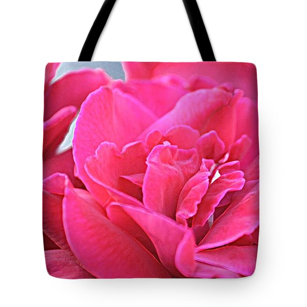 Pink Roses Tote Bag by Donna G Smith