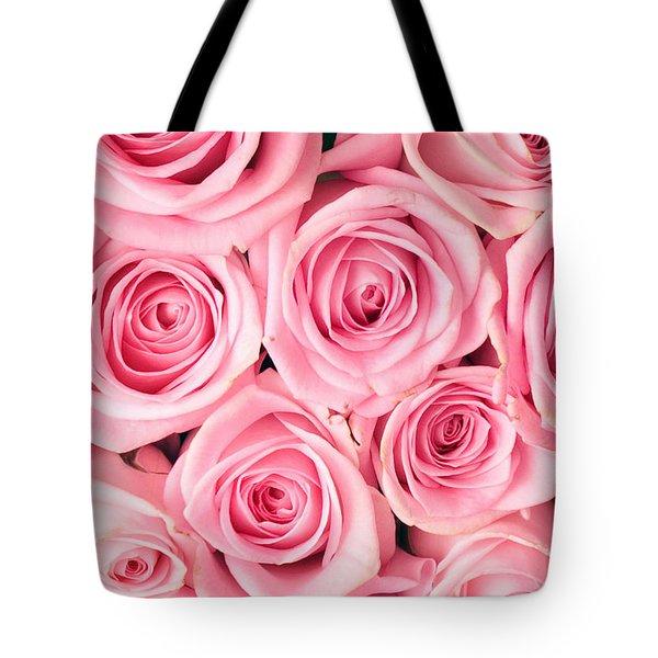 Pink Roses Tote Bag by Munir Alawi