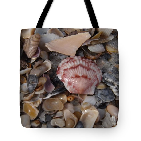 Tote Bag featuring the photograph Pink Shell Find by Brigitte Emme