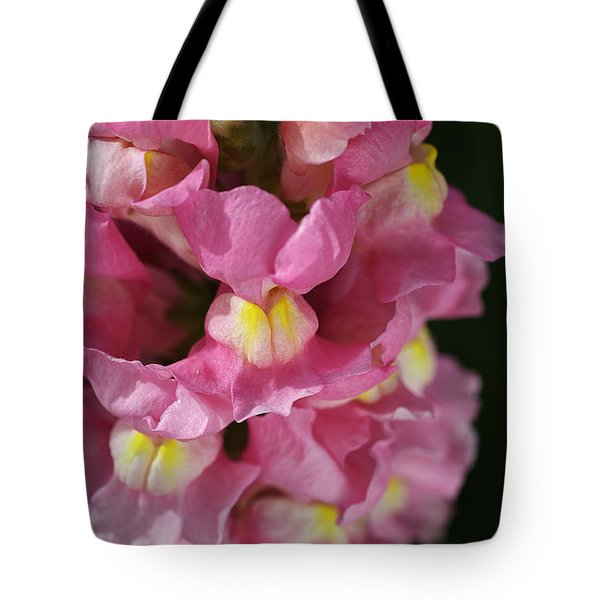 Pink Snapdragon Flowers Tote Bag