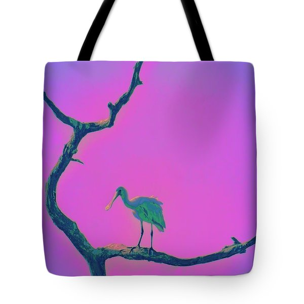 Pink Spoonbill Tote Bag by David Mckinney
