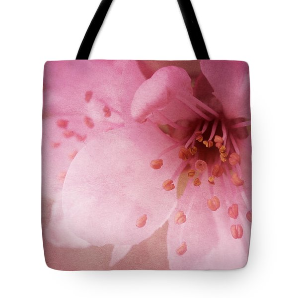 Pink Spring Blossom Tote Bag