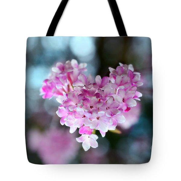 Pink Spring Heart Tote Bag