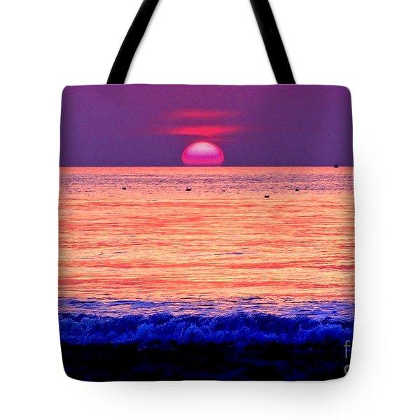 Pink Sun Tote Bag by Nina Ficur Feenan