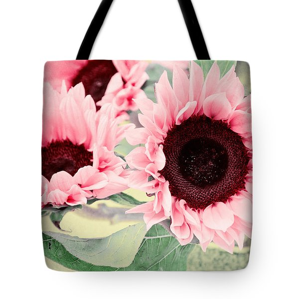 Pink Sunflowers Tote Bag by Angela Doelling AD DESIGN Photo and PhotoArt