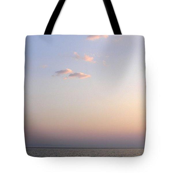 Pink Sunset Tote Bag by Zoran Berdjan