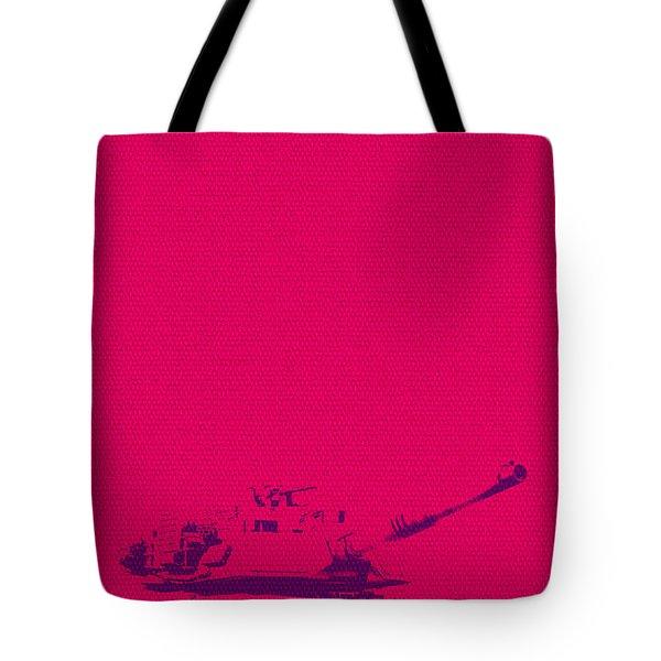 Pink Tank Tote Bag