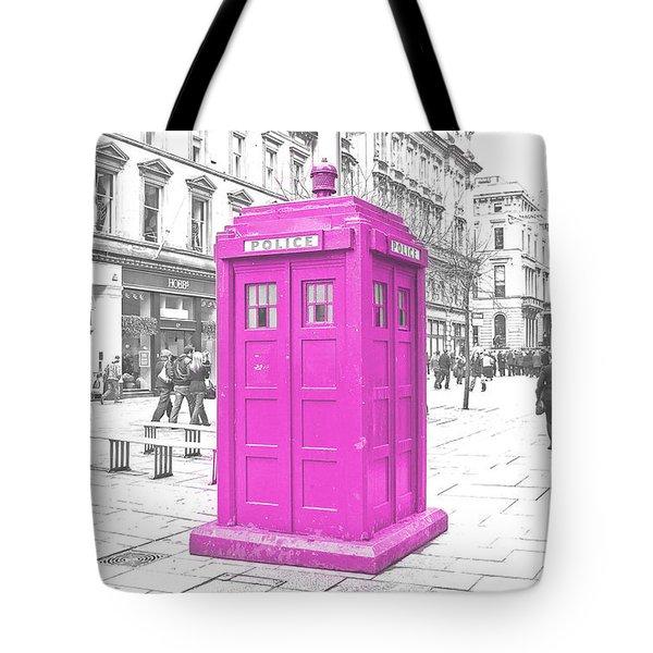 Pink Tardis  Tote Bag by Rob Hawkins