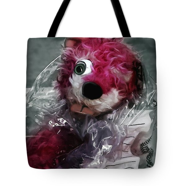 Pink Teddy Bear In Evidence Bag @ Tv Serie Breaking Bad Tote Bag