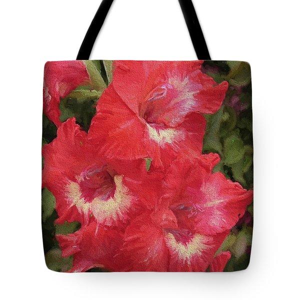 Pink Trumpet Painting In Digital Oil Tote Bag