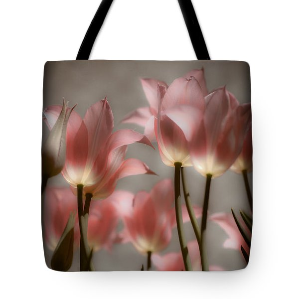 Tote Bag featuring the photograph Pink Tulips Glow by Michelle Joseph-Long