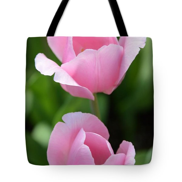 Pink Twins Tote Bag by Kathleen Struckle