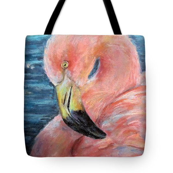 Tote Bag featuring the drawing Pink Twist by Jieming Wang