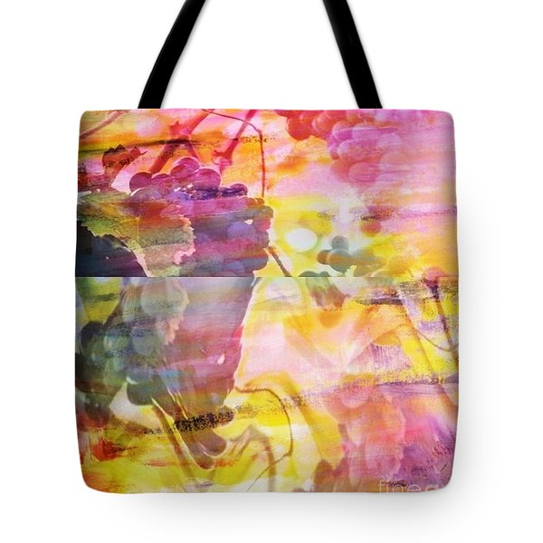 Pink Vineyard Plumps Tote Bag by PainterArtist FIN