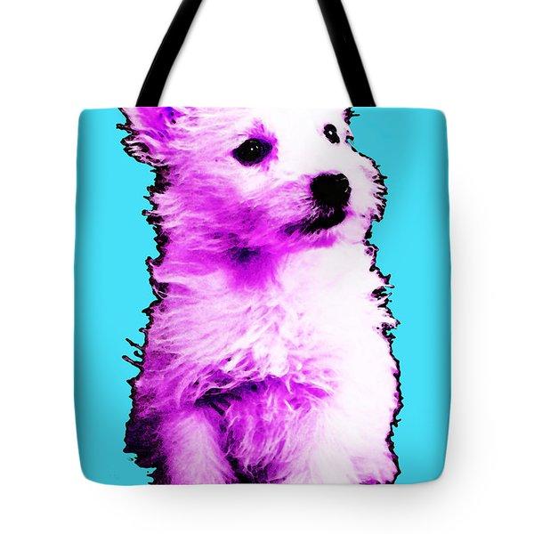 Pink Westie - West Highland Terrier Art By Sharon Cummings Tote Bag by Sharon Cummings